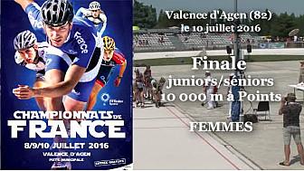 Championnat de France Roller Piste 2016: Finale Juniors/Séniors Femmes au 10 000m à points @FFRollerSports #TvLocale_fr #TarnEtGaronne @Occitanie