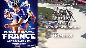 Championnat de France Roller Piste 2016: Finale Cadets Hommes 10 000m à points @FFRollerSports #TvLocale_fr #TarnEtGaronne @Occitanie