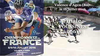 Championnat de France Roller Piste 2016: Finale Poussines 2 000m s @FFRollerSports #TvLocale_fr #TarnEtGaronne @Occitanie