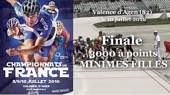Championnat de France Roller Piste 2016: Finale Minimes Filles 3 000m à points @FFRollerSports #TvLocale_fr #TarnEtGaronne @Occitanie