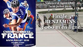 Championnat de France Roller Piste 2016: Finale Benjamins 3 000m  @FFRollerSports #TvLocale_fr #TarnEtGaronne @Occitanie