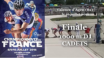 Finale Cadets Championnat de France Roller Piste 2016: 1 000m D1 @FFRollerSports #TvLocale_fr #TarnEtGaronne @Occitanie