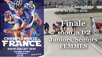 Finale Juniors/Séniors Femmes Championnat de France Roller Piste 2016: 1 000m D2 @FFRollerSports #TvLocale_fr #TarnEtGaronne @Occitanie