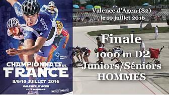 Finale Juniors/Séniors Hommes Championnat de France Roller Piste 2016: 1 000m D2 @FFRollerSports #TvLocale_fr #TarnEtGaronne @Occitanie