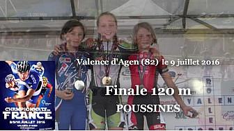 Jeanne Frugier Championne de France Poussine en Roller Piste 2016 au 120m  @FFRollerSports #TvLocale_fr #TarnEtGaronne @Occitanie