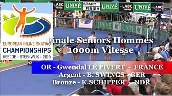 Gwendal Le PIVERT du Valence Roller Sports Champion d'Europe  RollerPiste 2016 d'Heerde : Finale SH 1000m vitesse @FFRollerSports #TvLocale_fr