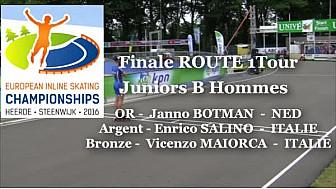 Médaille d'OR et Titre de Champion d'EUROPE 2016 pour Janno BOTMAN - NED à Heerde aux Pays-Bas en Roller Route 1 Tour Juniors B Hommes