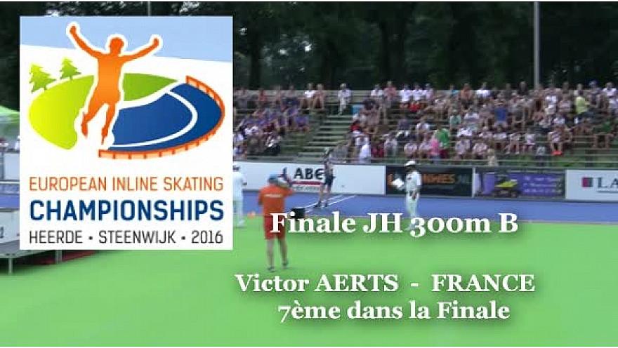 Victor AERTS du Valence Roller Sports 7ème au Championnat d'Europe  RollerPiste 2016 d'Heerde : Finale JH 300m vitesse A @FFRollerSports #TvLocale_fr