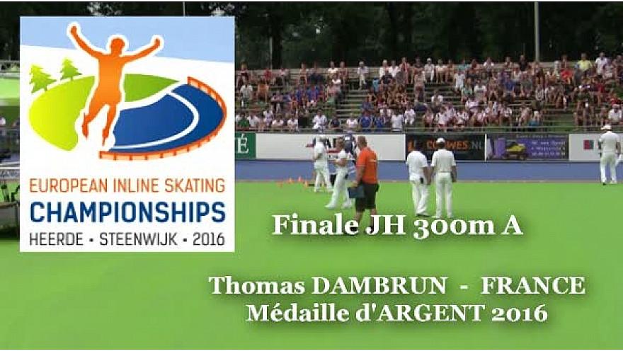 Thomas DAMBRUN du Valence Roller Sports Médaille d'Argent au Championnat d'Europe  RollerPiste 2016 d'Heerde : Finale JH 300m vitesse A @FFRollerSports #TvLocale_fr